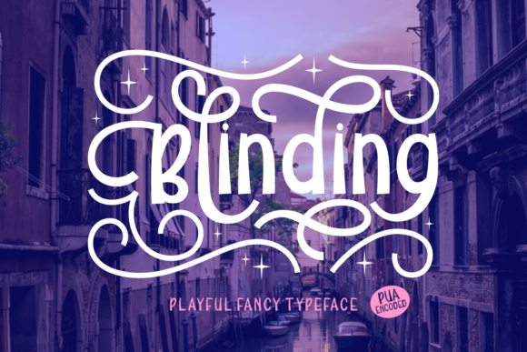 Print on Demand: Blinding Display Font By Rifki (7ntypes)