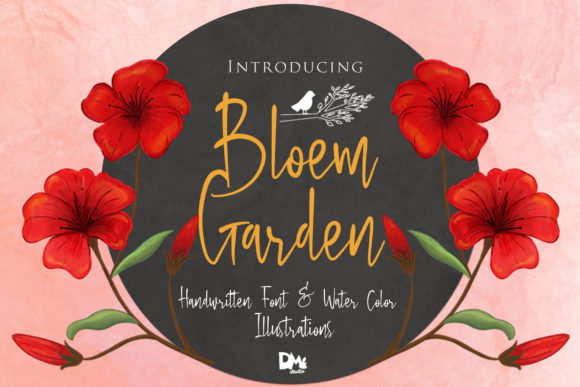 Print on Demand: Bloem Garden Script & Handwritten Font By dmletter31