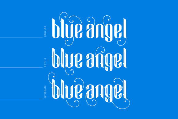 Print on Demand: Blue Angel Blackletter Font By creativemedialab - Image 2