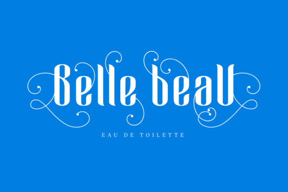 Print on Demand: Blue Angel Blackletter Font By creativemedialab - Image 3