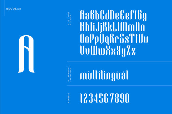 Print on Demand: Blue Angel Blackletter Font By creativemedialab - Image 5