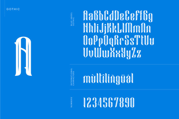 Print on Demand: Blue Angel Blackletter Font By creativemedialab - Image 6