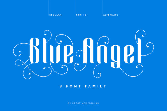 Blue Angel Blackletter Font By creativemedialab