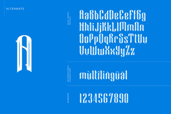 Print on Demand: Blue Angel Blackletter Font By creativemedialab - Image 7