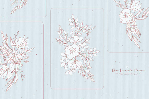 Blue Formula Flowers Graphic Illustrations By webvilla - Image 4