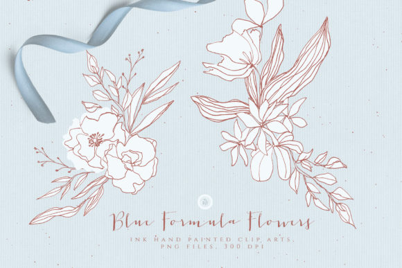 Blue Formula Flowers Graphic Illustrations By webvilla - Image 5