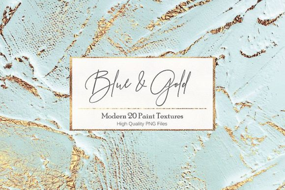 Blue Gold Paint Backgrounds Graphic Backgrounds By Creative Paper