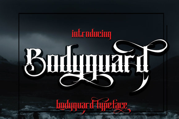 Print on Demand: Bodyguard Display Font By jehansyah251 - Image 4