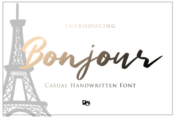 Print on Demand: Bonjour Script & Handwritten Font By dmletter31