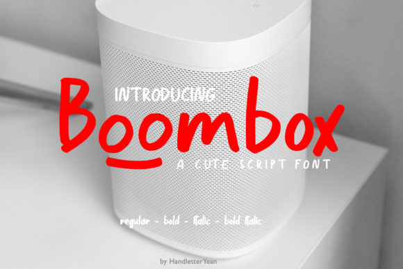 Print on Demand: Boombox Display Font By yean.aguste - Image 1