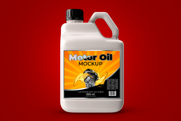 Bottle Motor Oil Mockup Graphic Product Mockups By rogeriolmarcos