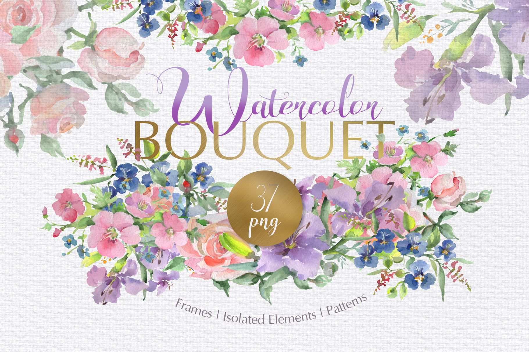 Download Free Bouquet Flower Date Watercolor Png Graphic By Mystocks for Cricut Explore, Silhouette and other cutting machines.