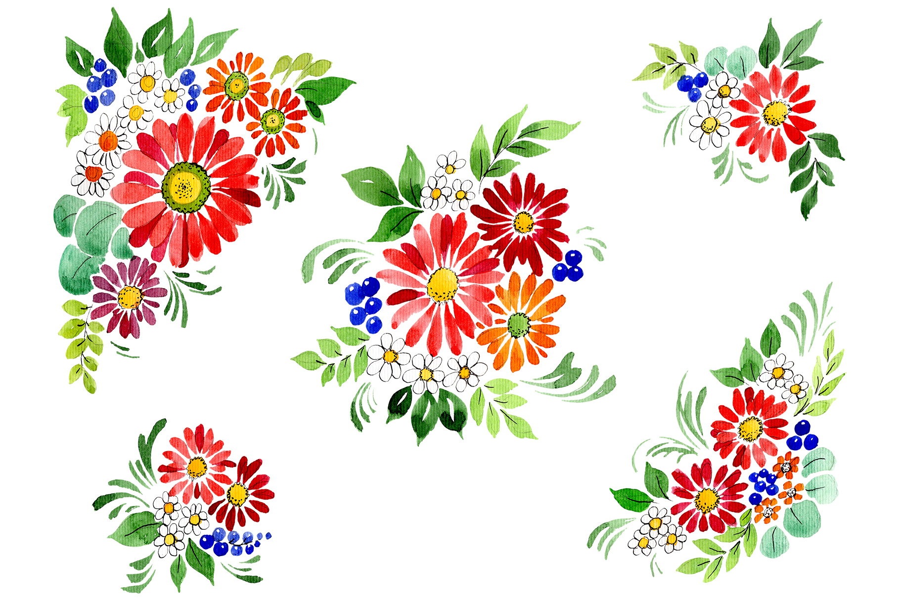 Download Free Bouquet Gifts Of Nature Watercolor Graphic By Mystocks for Cricut Explore, Silhouette and other cutting machines.