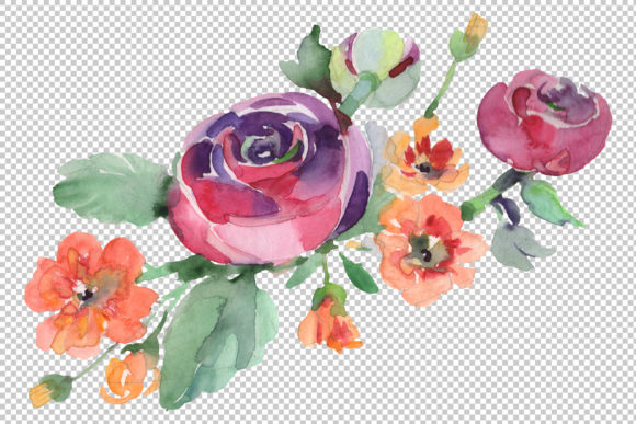 Bouquet Hello Summer Watercolor Png Graphic By MyStocks Image 2
