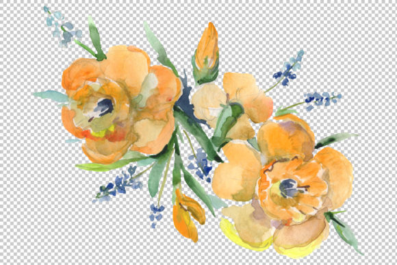 Bouquet Hello Summer Watercolor Png Graphic By MyStocks Image 5