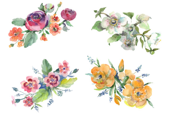 Bouquet Hello Summer Watercolor Png Graphic By MyStocks Image 1