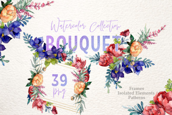 Bouquet Moment of Happiness Watercolor Graphic By MyStocks Image 1