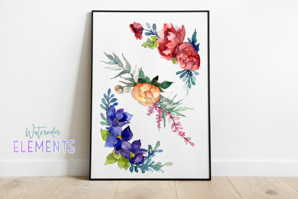 Bouquet Moment of Happiness Watercolor