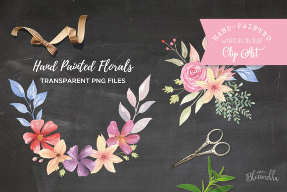 Bouquet Set Embellish Flowers Florals Graphic Illustrations By Bloomella