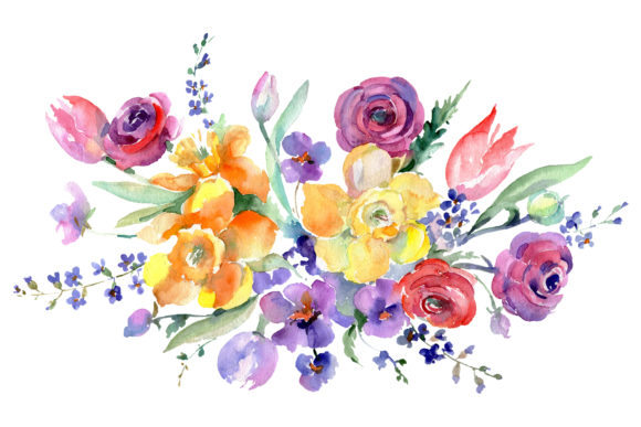 Download Free Cool Thistle Watercolor Set Graphic By Mystocks Creative Fabrica for Cricut Explore, Silhouette and other cutting machines.