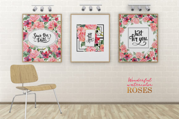 Download Free Bouquet With Watercolor Agate Roses Png Graphic By Mystocks for Cricut Explore, Silhouette and other cutting machines.