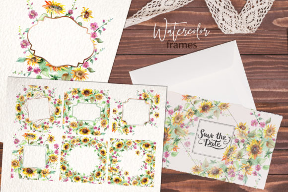 Print on Demand: Bouquets with Sunflowers Watercolor Png Graphic Illustrations By MyStocks - Image 6