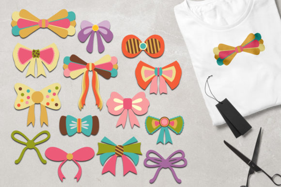 Print on Demand: Bow Ribbons Graphic Illustrations By Revidevi