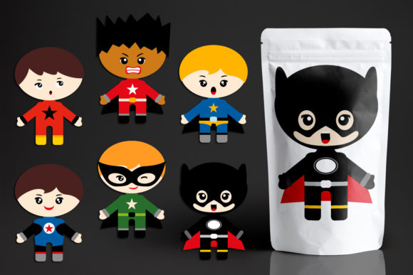 Download Free Boy Superhero With Emotion Graphic By Revidevi Creative Fabrica for Cricut Explore, Silhouette and other cutting machines.