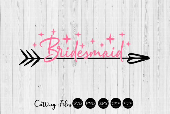 Print on Demand: Bridesmaid | Wedding Cut File | Graphic Graphic Templates By HD Art Workshop