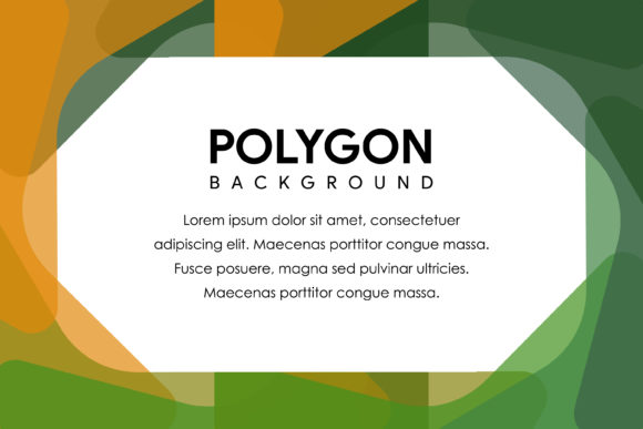Bright Polygon Horizontal Banner Green Graphic By noory.shopper
