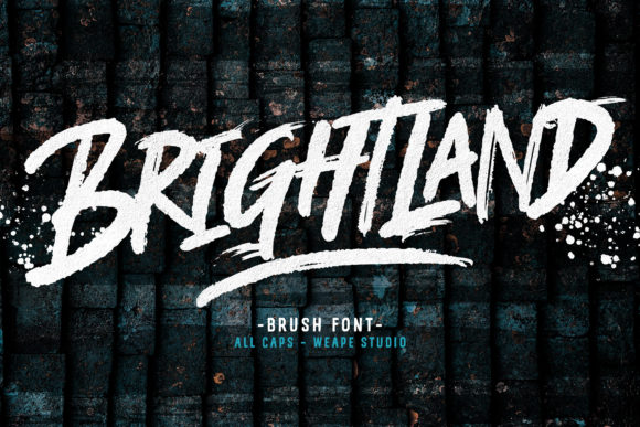 Print on Demand: Brightland Display Font By Weape Design
