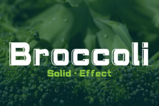 Brocolli Font By da_only_aan
