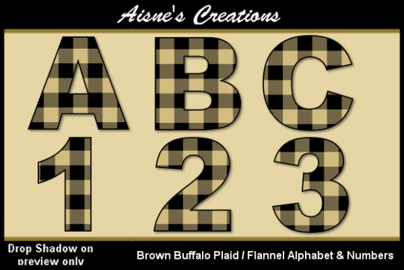 Download Free Brown Buffalo Plaid Alphabet Numbers Graphic By Aisne for Cricut Explore, Silhouette and other cutting machines.