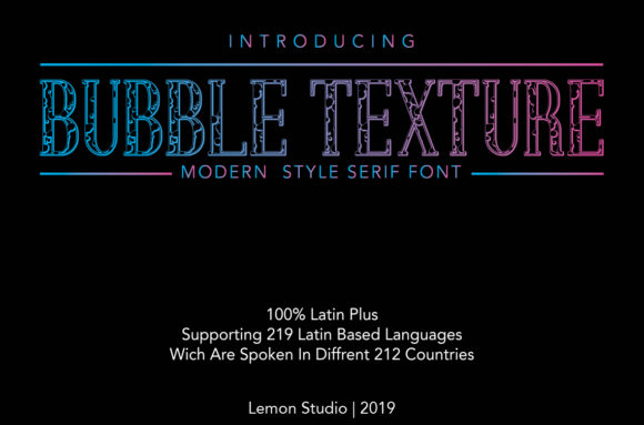Print on Demand: Bubble Texture Decorative Font By Lemon Studio - Image 1