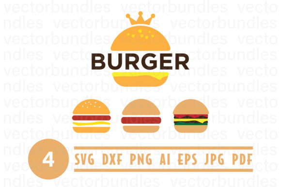 Burger Clip Art Svg Graphic Crafts By vectorbundles