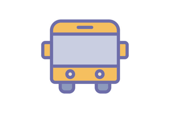 Download Free Bus Icon Graphic By Ahlangraphic Creative Fabrica for Cricut Explore, Silhouette and other cutting machines.