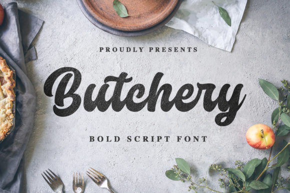 Print on Demand: Butchery Script & Handwritten Font By Blankids Studio