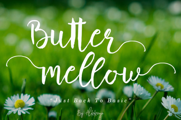Print on Demand: Butter Mellow Script & Handwritten Font By aldedesign