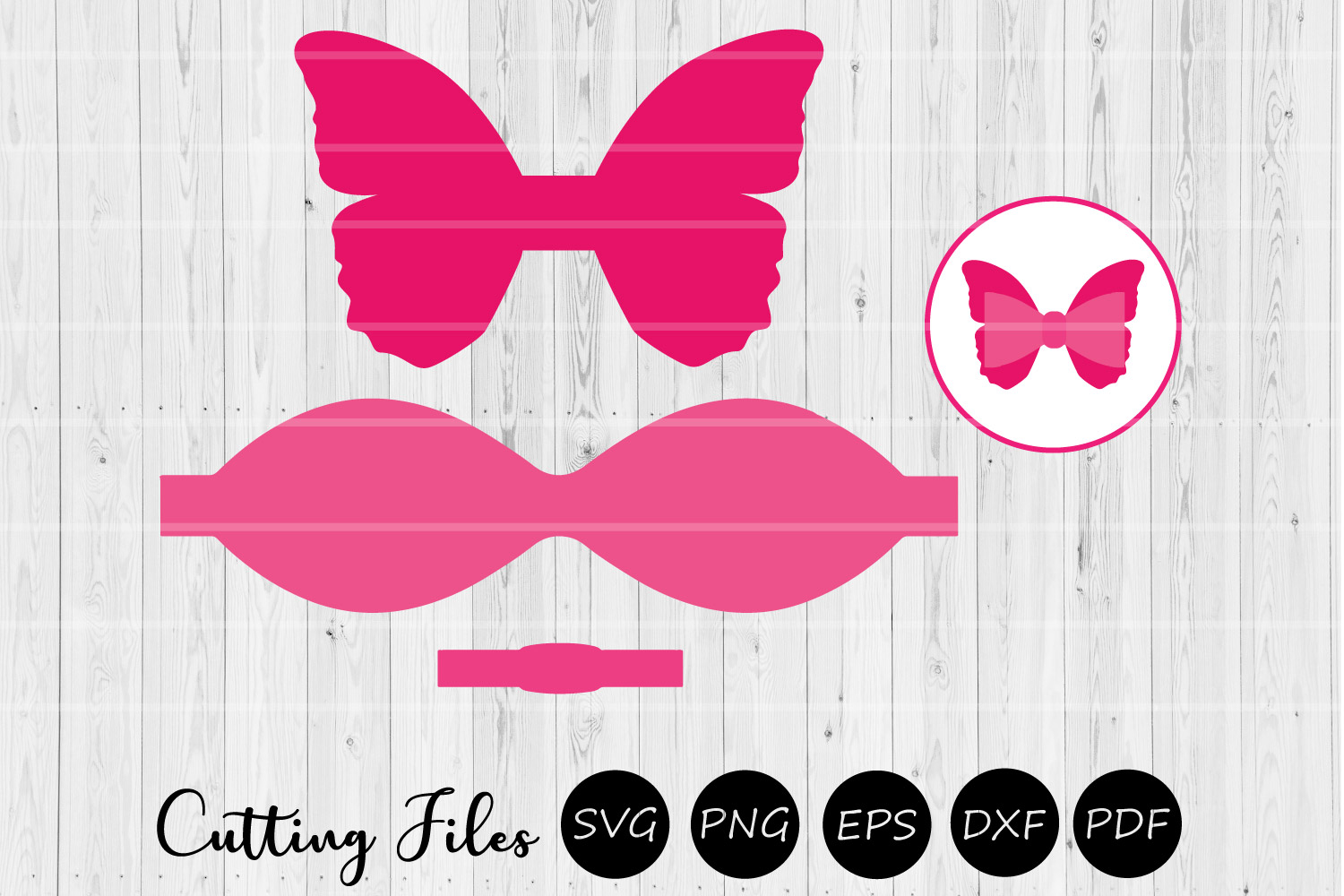 Download Free Butterfly Bow Scalloped Bow Svg Graphic By Hd Art Workshop for Cricut Explore, Silhouette and other cutting machines.