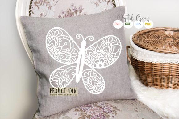 Butterfly Paper Cut Design Graphic By Digital Gems Creative
