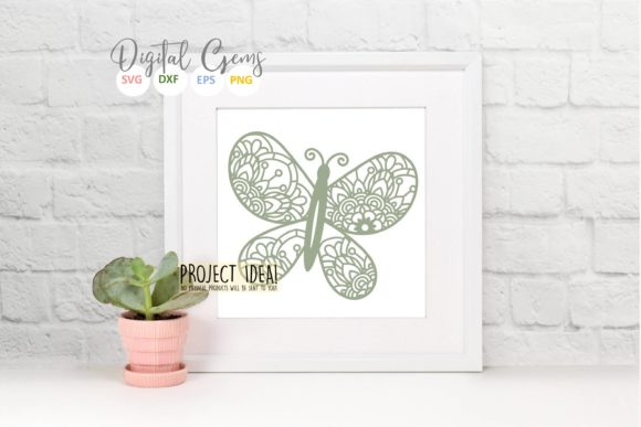 Butterfly Paper Cut Design Graphic Crafts By Digital Gems - Image 8