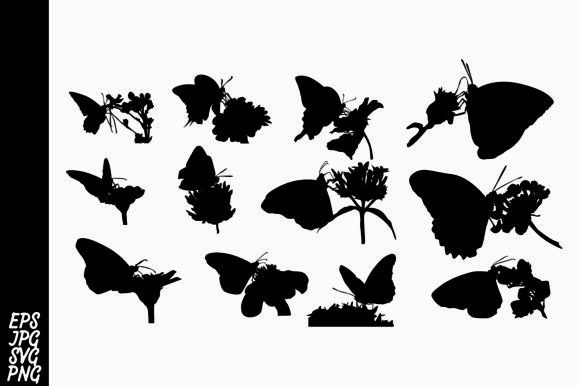 Print on Demand: Butterfly Silhouette SVG Bundle Graphic Crafts By Arief Sapta Adjie