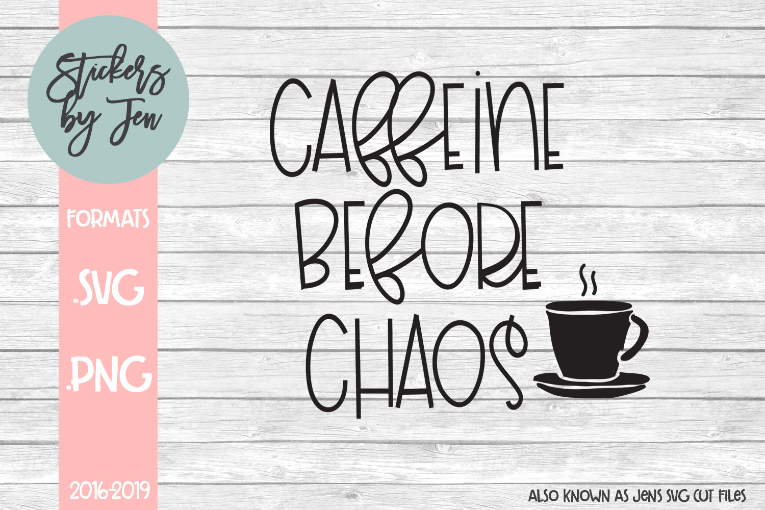 Download Free Caffeine Before Chaos Svg Graphic By Stickers By Jennifer SVG Cut Files