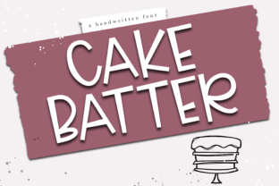 Cake Batter Font By KA Designs
