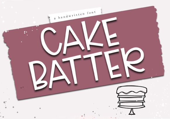 Print on Demand: Cake Batter Display Font By KA Designs