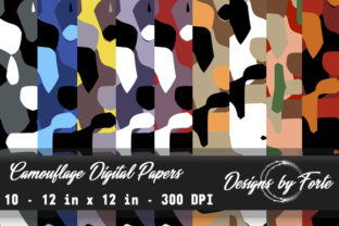 Camouflage Digital Papers - Textures Graphic By Heidi Vargas-Smith