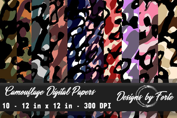 Print on Demand: Camouflage Digital Papers Graphic Textures By Heidi Vargas-Smith