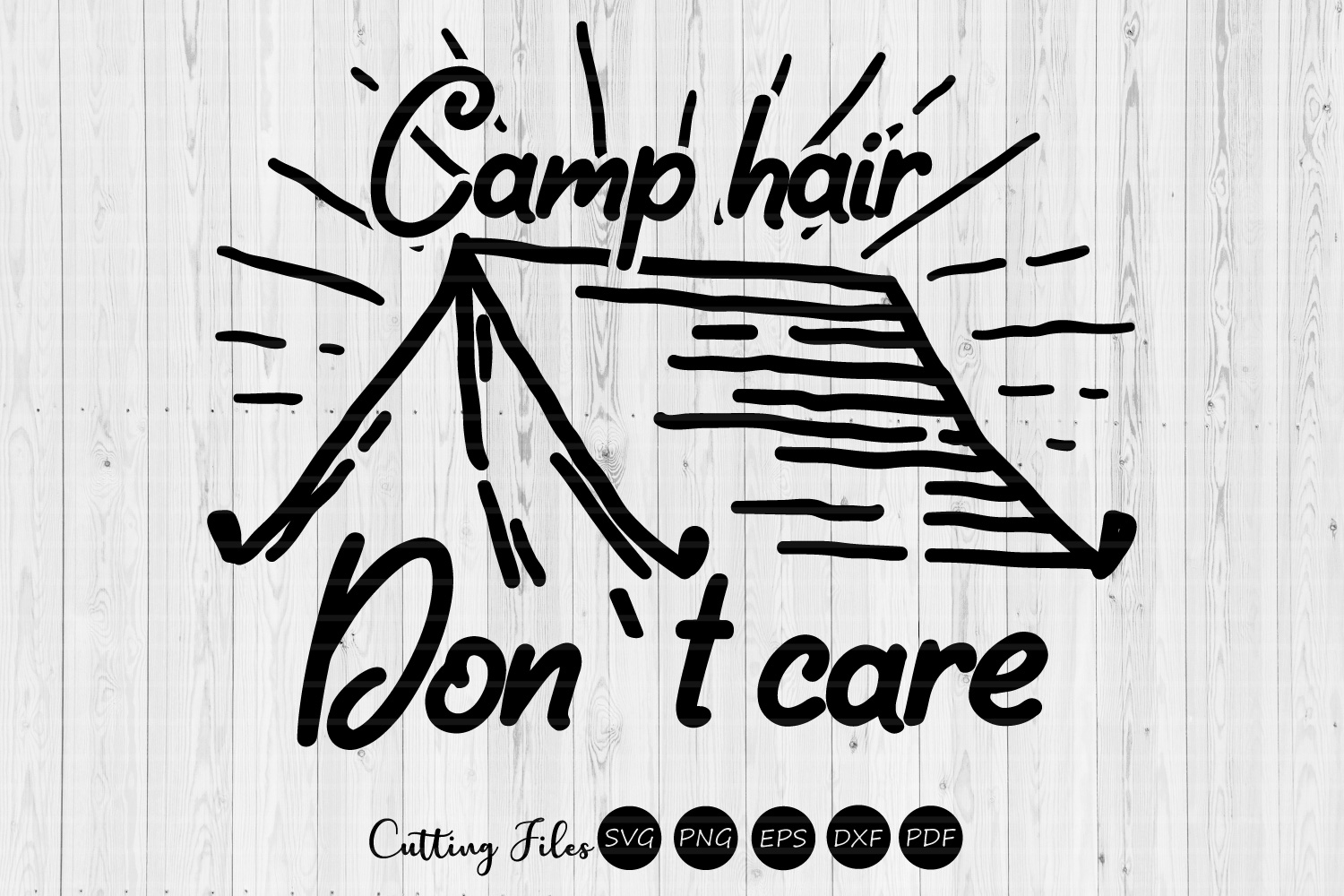 Download Free Camp Hair Don T Care Camping Svg Graphic By Hd Art Workshop for Cricut Explore, Silhouette and other cutting machines.
