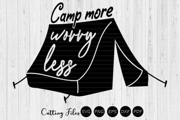 Download Free Camp More Worry Less Camping Svg Graphic By Hd Art Workshop for Cricut Explore, Silhouette and other cutting machines.