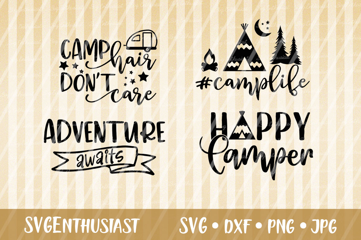 Download Free Camper Camping Mini Bundle Svg Graphic By Svgenthusiast for Cricut Explore, Silhouette and other cutting machines.